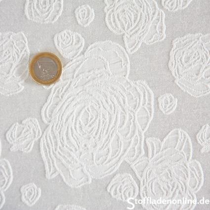 stretch jacquardstoff rose wollwei jacquardstoffe. Black Bedroom Furniture Sets. Home Design Ideas