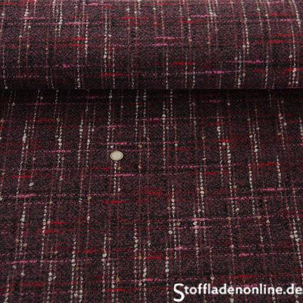 hilco grob gewebter karostoff sodo rosso karostoffe kaufen. Black Bedroom Furniture Sets. Home Design Ideas