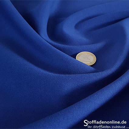 Heavy jersey fabric cobalt blue