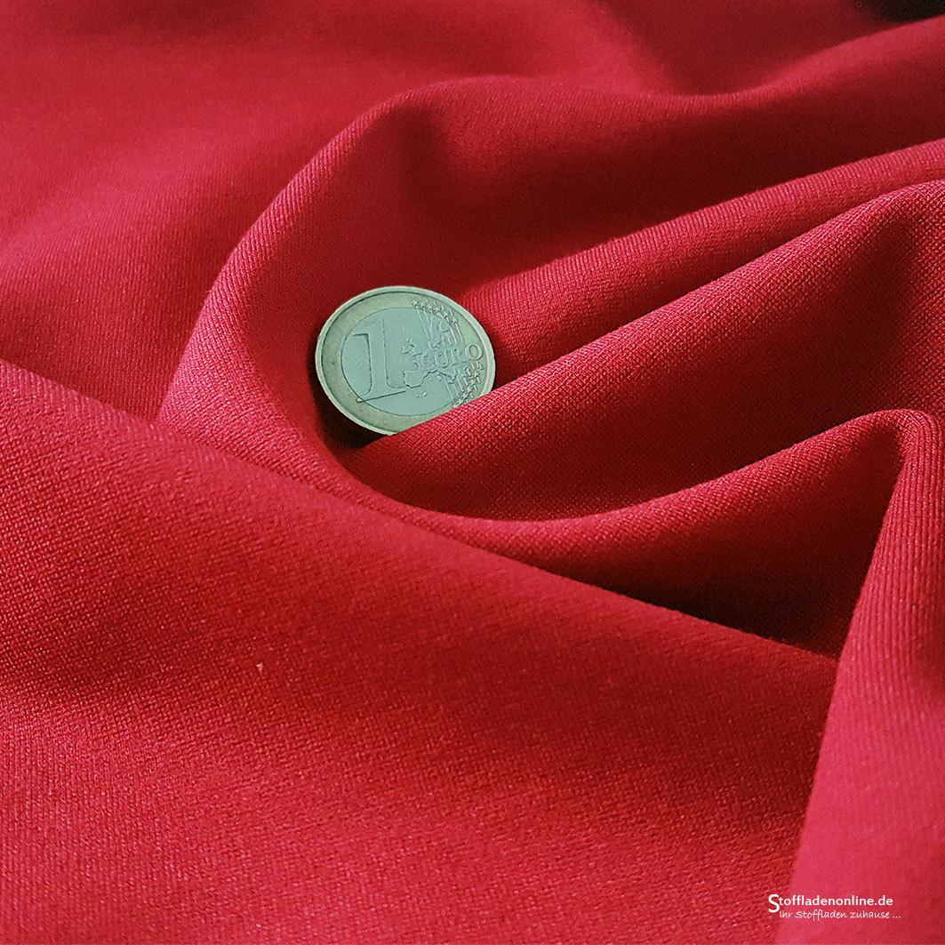 schwerer jersey stoff rot jerseystoff dicker jersey punta. Black Bedroom Furniture Sets. Home Design Ideas