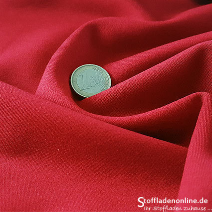 Heavy jersey fabric red