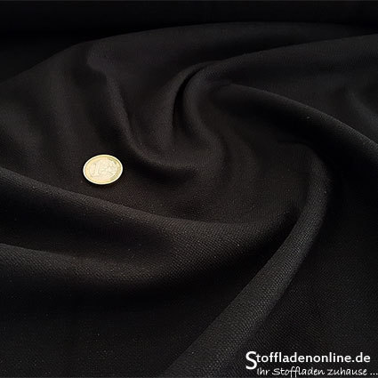 Stretch linen fabric black