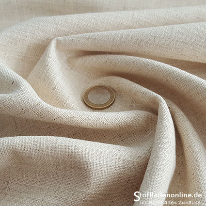 Stretch linen fabric natural
