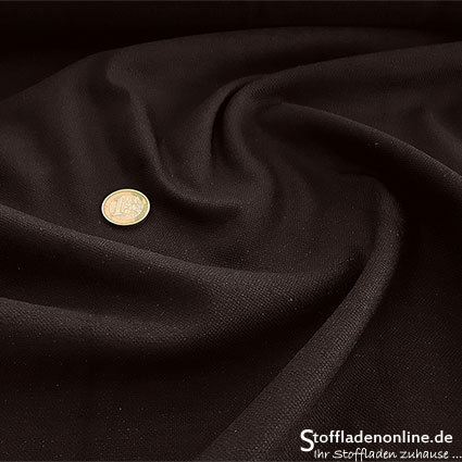 Stretch linen fabric dark brown