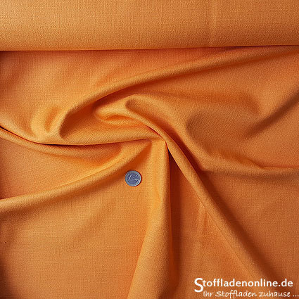 Stretch linen fabric orange