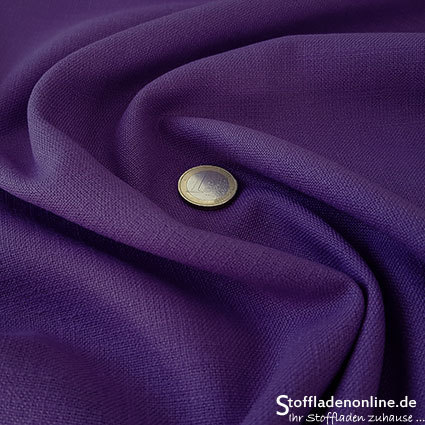 Stretch linen fabric violet