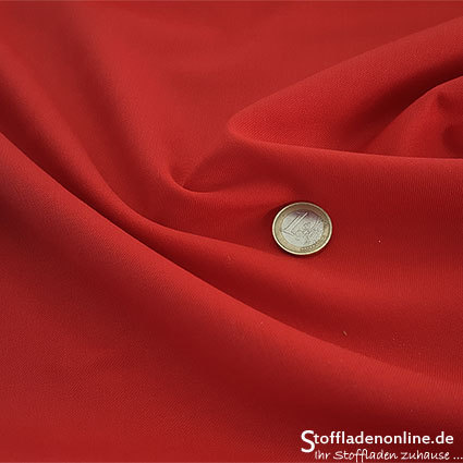 Wool blend gabardine fabric red