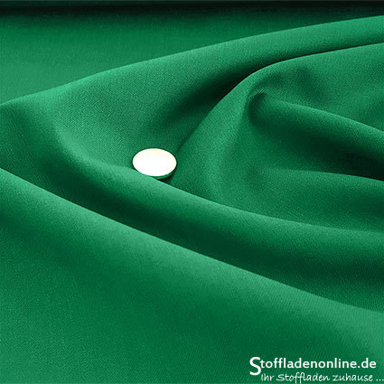 Wool blend gabardine fabric green