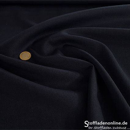 Wool blend gabardine fabric dark blue