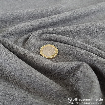 Cotton sweatshirt dark grey melange