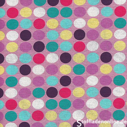 "Hamburger Liebe Happy ""Polka Dots"" Trikot Stoff - flieder"