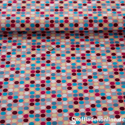 "Hamburger Liebe Happy ""Polka Dots"" Trikot Stoff - rosé"