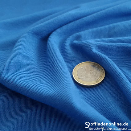 Bamboo jersey fabric sapphire blue - Toptex