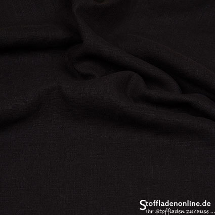 Bio enzyme washed linen fabric black - Hilco