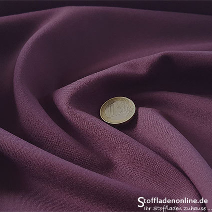Heavy jersey fabric eggplant purple