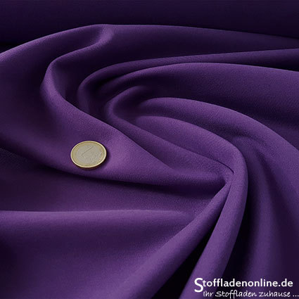 Heavy jersey fabric violet