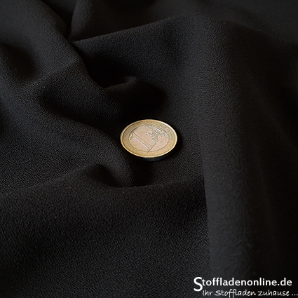Stretch crepe fabric black - Toptex