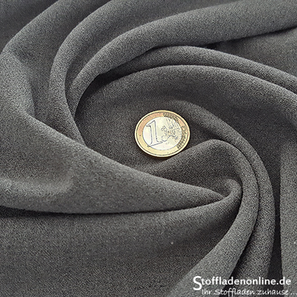 Stretch crepe fabric grey melange - Toptex