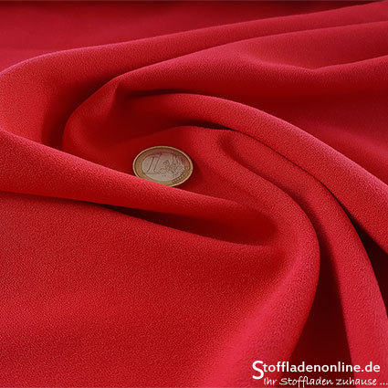 Stretch crepe fabric red - Toptex