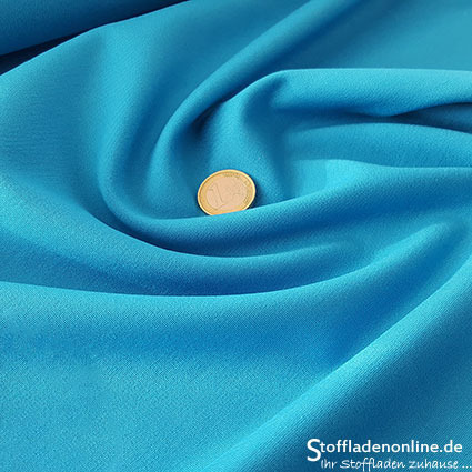 Heavy jersey fabric azure blue