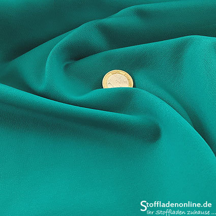 Heavy jersey fabric turquoise green