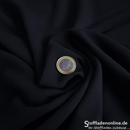 Stretch crepe fabric dark blue - Toptex