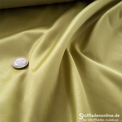 Stretch satin fabric pear green - Toptex