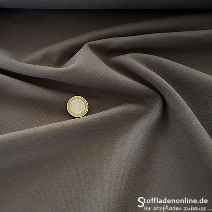 Heavy jersey fabric grey brown