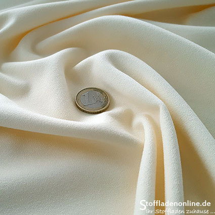 Stretch crepe fabric ivory white - Toptex