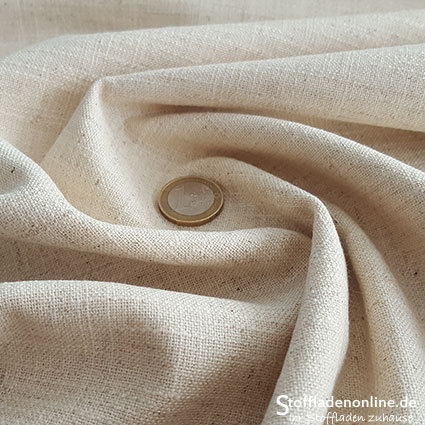 Woven viscose linen fabric natural