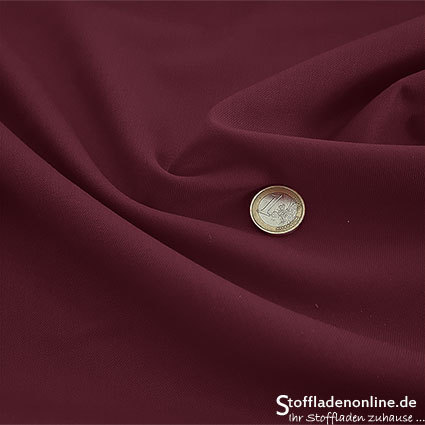 Wool blend gabardine fabric burgundy red