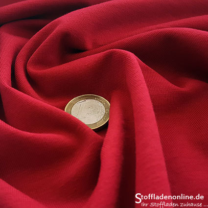 Cotton jersey fabric warm red - Toptex