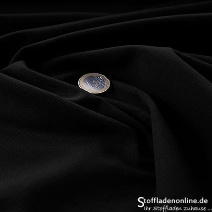 Cotton jersey fabric black - Toptex