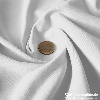 Cotton jersey fabric white - Toptex
