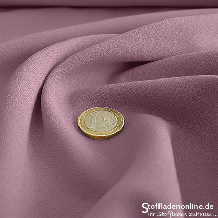 Stretch crepe fabric soft lilac - Toptex