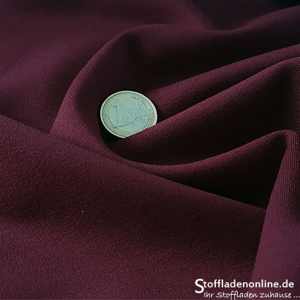 Heavy jersey fabric burgundy red