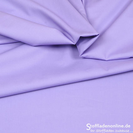Stretch poplin fabric lavender