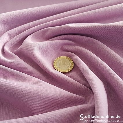 Cotton jersey fabric lilac - Toptex