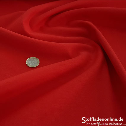 Fine woven stretch cotton twill red