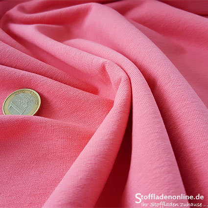 Cotton sweatshirt knit rose