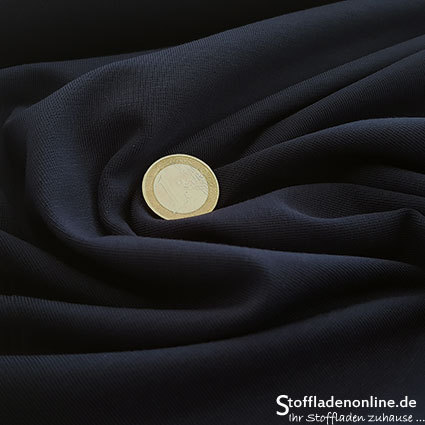 Cotton jersey fabric dark blue - Toptex