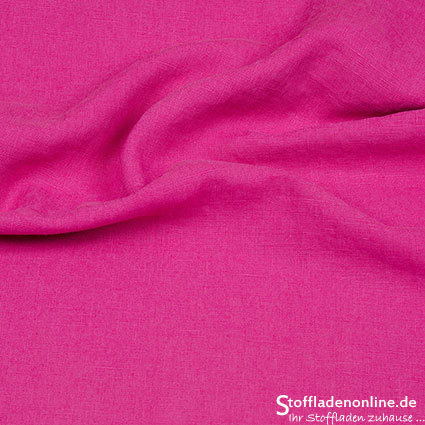 Bio enzyme washed linen fabric rose - Hilco