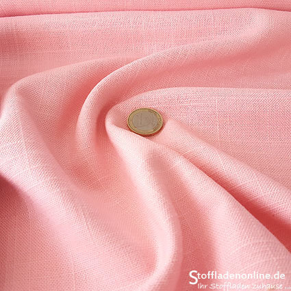 Woven viscose linen fabric soft rose