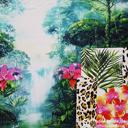"Inkjet Viskosejersey ""Jungle"""