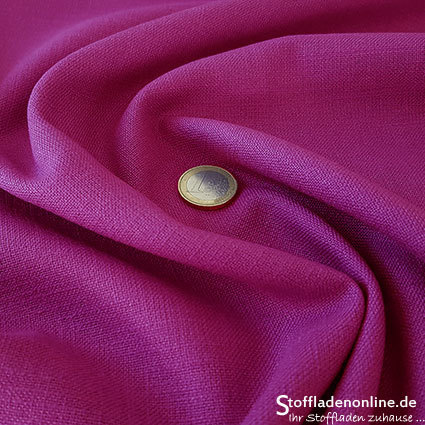 Stretch linen fabric fuchsia
