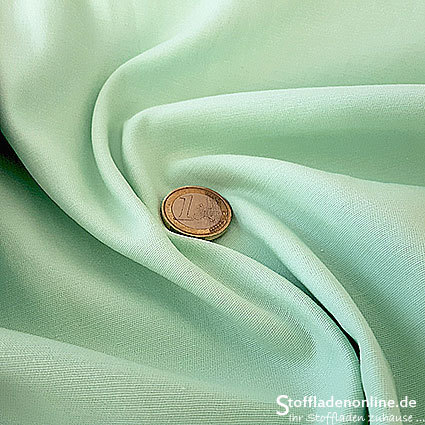 Fine woven stretch cotton twill soft mint
