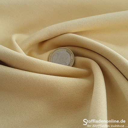 Heavy jersey fabric soft yellow
