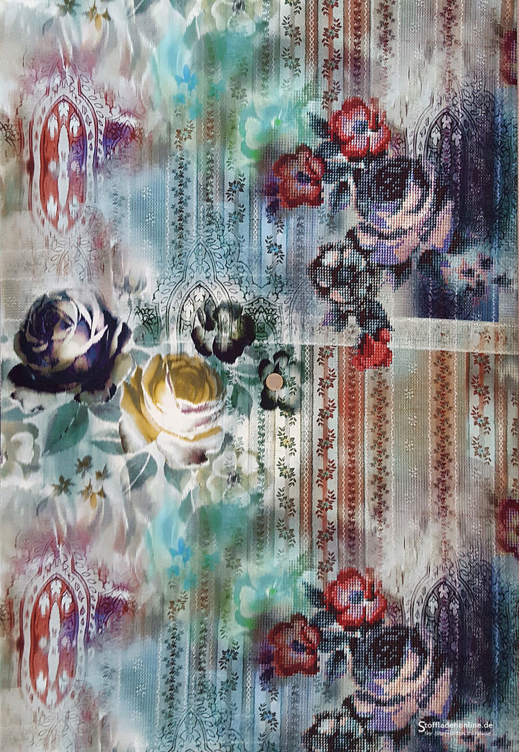 Inkjet viskosejersey fleurs au crochet online for Fleurs online
