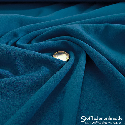 Stretch crepe fabric cornflower blue - Toptex