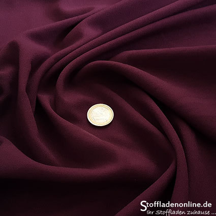 Stretch crepe fabric burgundy red - Toptex